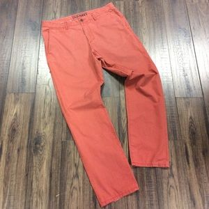 Red Old Navy Sunwashed Chinos